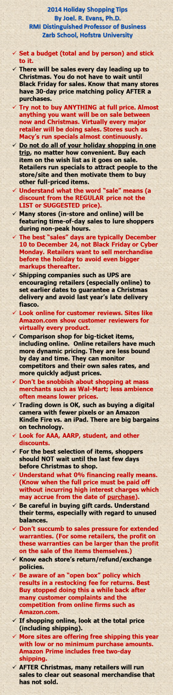 2014 Shopping Tips